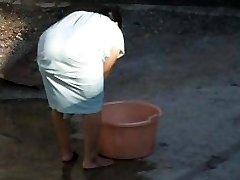 Spying Indian Aunty Big Ass - Bend Over Backside - Bootie Voyeur - Desi Candid