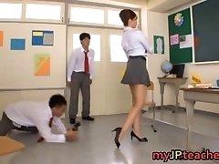 Kaori Hot Japanese professor getting
