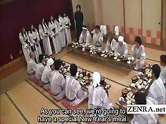 כתוביות יפניות milfs קבוצת משחק מקדים האוכל למסיבה