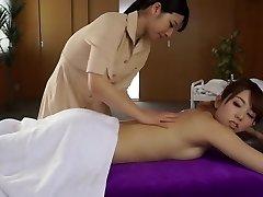 Parim Jaapani hoor Ai Uehara, Yui Hatano aastal Vapustav massaaž, lesbi JAV video