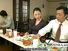 Subtitled freaky Japanese bottomless no undies family