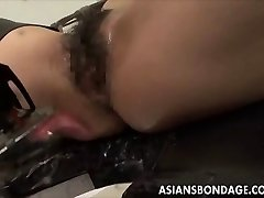 Asian stunner bond and fuckd by a plowing