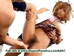 Teen japanese models have fun with an hump