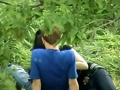 Asian Girl Playing With Russian Boyfriend Trunk On Public