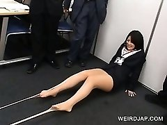 Fancy Japanese babes stripping stockings