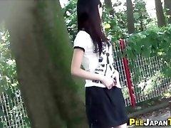 Japanese teenager pee public