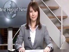 Nekustamā Japāņu news reader divi