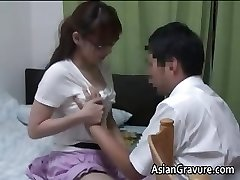 Sexy asian with big cupcakes home tutor part1