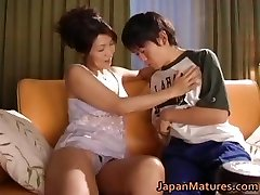 Horny japanese mature babes fellating part2