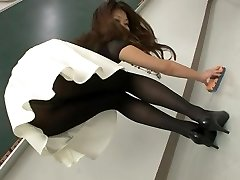 Sexy Japanese women in pantyhose and socks