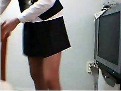 Koreansk Amatør Skole Uniform Erte Onani