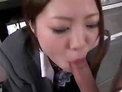 Japanese office fellate