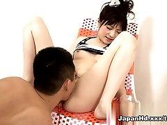 Utrolig pornstar Rika Sonohara i Hotteste Fingering, Dildoer/Leker voksen klippet