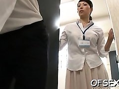Whorey scene of real firm core fucking in the workplace