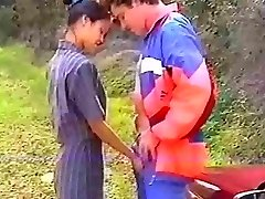 French asian anal invasion in the woods
