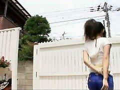 Playing muddy with sexy Yui Komine