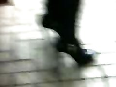 High Heels Stilleto Ankle Boots Asian Candid