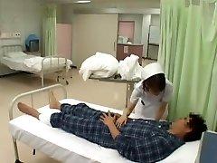 nevjerojatna japanski model нозоми osawa, luna канзаки, хината комине u napaljeni medicinska sestra, nadkoljenice jau video