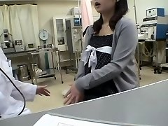 Busty physician screws her Jap patient in a medical fetish video
