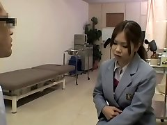 Kinky super hot medical exam for a smoking hot Japanese lady