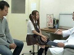 Medical examination with hot Japanese vixen being porked by hung doctor