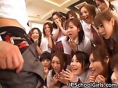 Sexy Japanese schoolgirls exploring