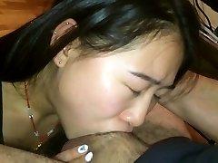Srčkan Asian Prevarala v Daje (Najboljše) Deepthroat Okoli #1