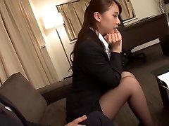 Čudovito Japonski dekle Yui Ali v Noro fingering, nogavice JAV video