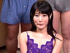 Subtitled Chinese gokkun gulping party with Chigusa Hara