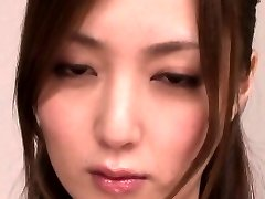 Japanese milf gargling dick before facial cumshot