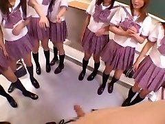 Csodálatos Japán lány Michiru Hoshizora, Miyuki Yokoyama, Minami Yoshizawa a Kanos Csoport Szex, POV JAV videó