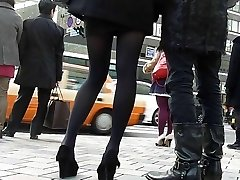 candid asian tights Five