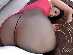 Maki Hojo Taunting And Fuckin' In Pantyhose Uncensored