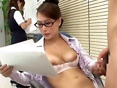 Incredible Asian girl Yayoi Yanagida in Best Office, Doggy Style JAV scene