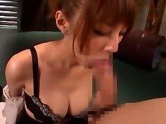 Horny Japanese chick Tsubasa Amami in Amazing Handjobs, Oral Job JAV flick