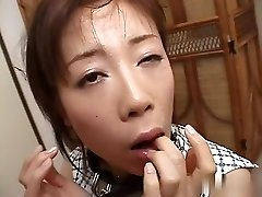 Finest Japanese nymph in Crazy JAV uncensored Blowjob video