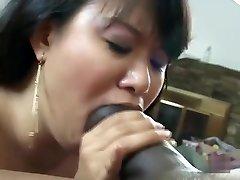 Hottest pornstar in horny asian, interracial adult movie