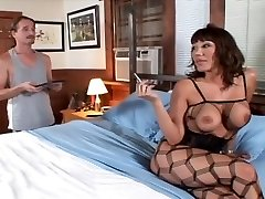 Hot Old Bitch In Fishnets Loves That Cock