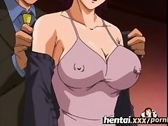 Hentai.gonzo - Busty MILF'S First-ever Threesome