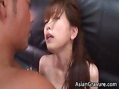 Forró, szexi ázsiai titkár fúj merev part4
