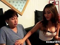 KOREA1818.COM - Lucky Virgin Smashes Super-steamy Korean Babe!