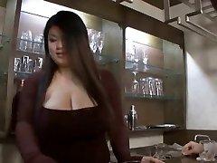 Japanese bbw hj then strap on dildo