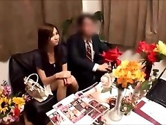 Japanese wife gets massged while spouse waits