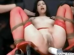 Asian In Stockings Bound Ejaculation