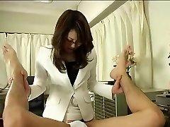Japán Orvos Szemüveget Használ Pánt
