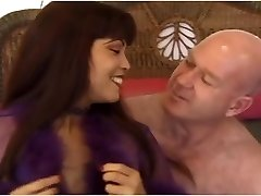 Slutty asian MILF Mimi fucks an ugly aged hairless guy