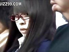 schoolgirl tempted and fucked by dweeb on bus
