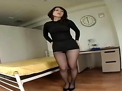 Japanese Hairy Twat Under Pantyhose