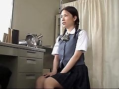 Asian slut poked hard by her doctor in medical sex flick