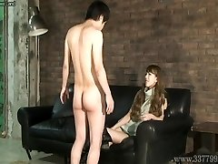 CFNM Japanese femdom Ruri like to watch a young naked man ma